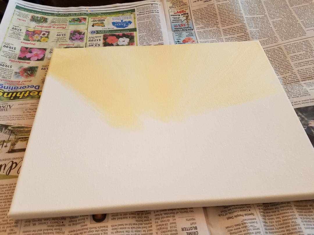 Painting the background