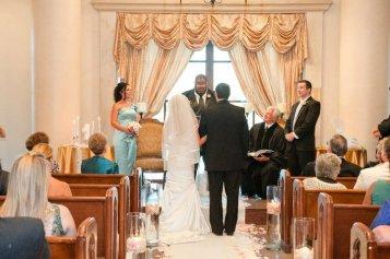 Byron officiating a friend's wedding