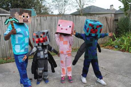 """Project Chic"" Minecraft Halloween Costumes made by Mom"